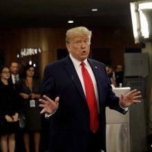D. Trumpas: esu nusipelnęs Nobelio taikos premijos