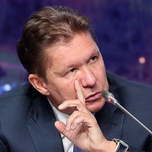 """""""Gazprom"""" vadovas: teisiškai sustabdyti """"Nord Stream 2"""" – nebeįmanoma"""