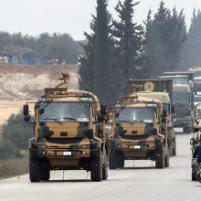 R. T. Erdoganas per derybas su V. Putinu tikisi susitarti dėl paliaubų Sirijoje