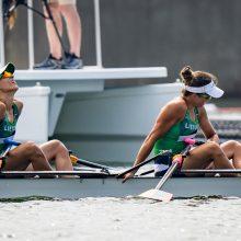 Ketvirtąją vietą Tokijo žaidynėse iškovojusios Lietuvos irkluotojos: tikėjome, kad turime šansų