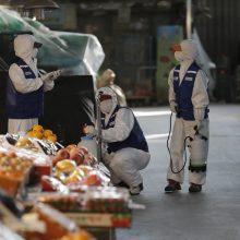 Pietų Korėjoje per parą koronavirusas diagnozuotas daugiau nei 500 žmonių