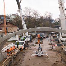 Žaliakalnyje kyla naujai perstatomo viaduko konstrukcijos: teks apsišarvuoti kantrybe