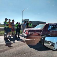 Ties Giraite – spūstys dėl keturių automobilių avarijos, prireikė medikų pagalbos