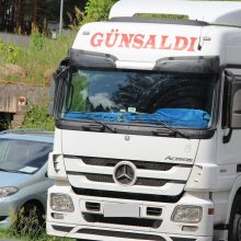 Dėl įtartos klastotės Medininkuose įstrigo turko gabentas persikų krovinys