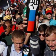 Maskvoje – mitingas prieš pensinio amžiaus didinimą