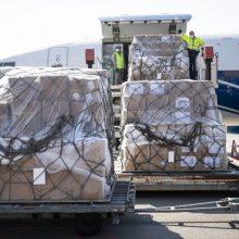 Į Kauną atgabenta didžiulė apsaugos priemonių medikams siunta
