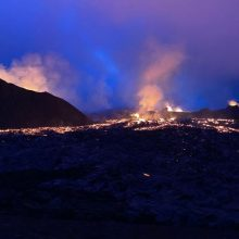 Lietuvis iš arti stebi Islandijos ugnikalnį: baisu, bet kažkas ten labai traukia
