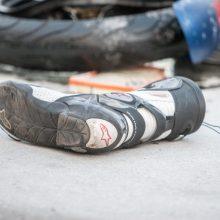 Per eismo nelaimę žuvo motociklu važiavęs ugniagesys