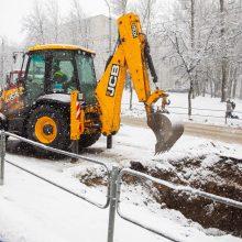 Po vandentiekio avarijos Vilniuje – geros žinios vairuotojams
