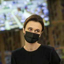 Seimo pirmininkė: pandemijos kontekste labai svarbu, kad tarpuvaldis neužsitęstų
