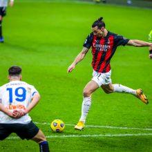 """""""Milan"""" pranašumas tirpsta po sutriuškinimo mače su """"Atalanta"""""""