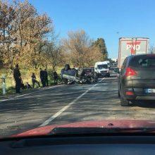 Per avariją Prienų rajone nukentėjo Vokietijos pilietis