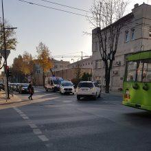 Kauno centre partrenkta pėsčioji