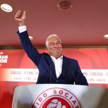 Portugalijos rinkimus laimėję socialistai valdys vieni