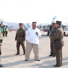 Šiaurės Korėja piktai užsipuolė Seulą ir pažėrė liaupsių Kinijai