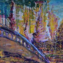 Menininkės parodoje – gyvenimiško chaoso potėpiai