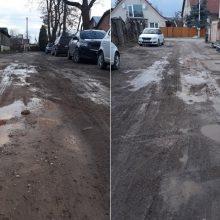 Kaunietė apie gatvę Žaliakalnyje: vargu, ar kaimuose rasime tokių tragiškų kelių