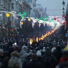 Maždaug tūkstantis žmonių žygiavo tautininkų eitynėse Vilniuje
