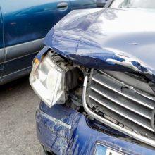 Vogtu automobiliu ilgai nevažiavo – trenkėsi į medį