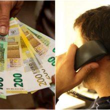 Pareigūnu apsimetęs sukčius apgavo jauną moterį, išviliojo 2,6 tūkst. eurų