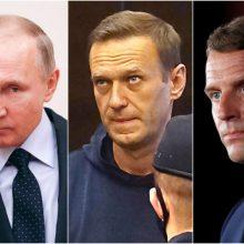 Prancūzijos prezidentas ragina V. Putiną paleisti A. Navalną