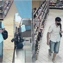 Iš Kauno parduotuvės pavogtas alkoholis: ieškomas šis vyras