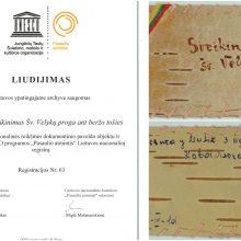 Sovietiniame lageryje rašytas atvirlaiškis ant beržo tošies įtrauktas į UNESCO registrą