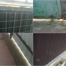 Kaunietė apie atliktą balkono remontą: kaina – absurdiška