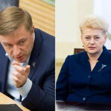 R. Karbauskio atsakas į prezidentės kritiką: tegu pateikia savo pasiūlymų