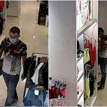 """Iš """"Akropolio"""" parduotuvės pavogti moteriški drabužiai: pareigūnai ieško šio vyro"""