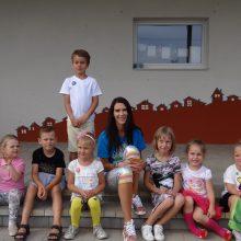 Kūrybiškumas: zumbos instruktorė kuria teatralizuotus šokius, veda zumbos kids pamokėles vaikų darželiuose.
