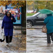 Orai: prireiks ir šiltesnių drabužių, ir skėčių