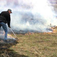 Per savaitgalį Lietuvoje kilo daugiau nei 70 žolės gaisrų