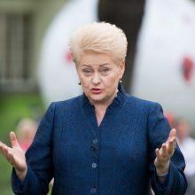 D. Grybauskaitė vetavo įstatymą dėl teisės turėti ginklą karo metu