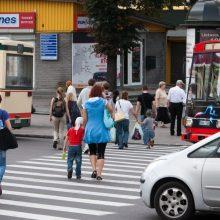 Reido metu Kauno pareigūnai nusitaikė į pėsčiuosius: pažeidimų netrūko