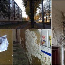 Renovacija: vaizdai daugiabučio laiptinėje – lyg po karo