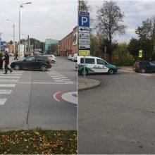 Eismo nelaimė pėsčiųjų perėjoje prie Kauno pilies: nukentėjo dviratininkas
