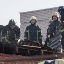 Anykščių rajone per gaisrą iš fermos išgelbėta kelios dešimtys jaučių