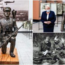 Kaune visuomenei pristatyta skulptūra partizanų vadui A. Ramanauskui-Vanagui