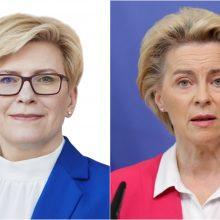 Premjerė: derinamas U. von der Leyen vizitas Lietuvoje