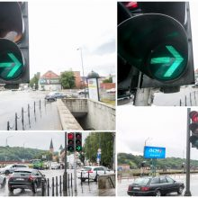 Prognozuoja: Kaune panaikinus žalias rodykles, gali komplikuotis eismas