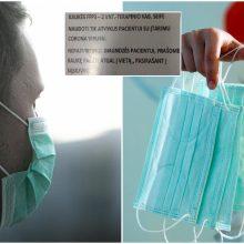 Šokiruojantis nurodymas personalui: nepatvirtinus diagnozės, kaukę padėti atgal