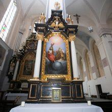 Kauno Šv. Jurgio Kankinio bažnyčios altoriuje – žinutė iš praeities