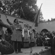 Šauklys: ugningais posmais į susirinkusiuosius kreipėsi aktorius ir poetas Kęstutis Genys.