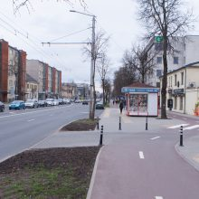 Perėjos dviračiu take: ar padės užtikrinti saugumą?
