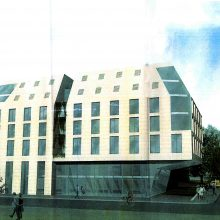 Planai: I.Kanto gatvėje planuota statyti naują komercinį pastatą.