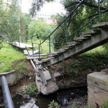 Norinčius patekti į Gričiupio parką pasitinka metalinė užkarda: kas čia daroma?