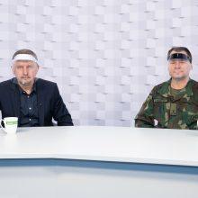 Gražvydas Muižys <span style=color:red;>(kairėje)</span> ir Vytautas Žymančius