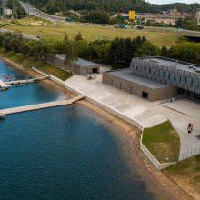 Kaunas atidaro naują irklavimo bazę: pirmieji pasiirstymai ir koncertas ant vandens