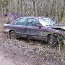 """Linksmakalnyje po avarijos rastas visiškai girtas """"Audi"""" ekipažas: kuris vairavo – neprisipažįsta"""